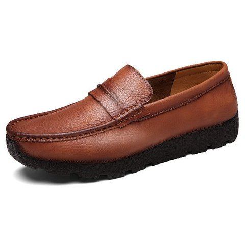 Men Soft Loafers Wear-resistant Casual Shoes