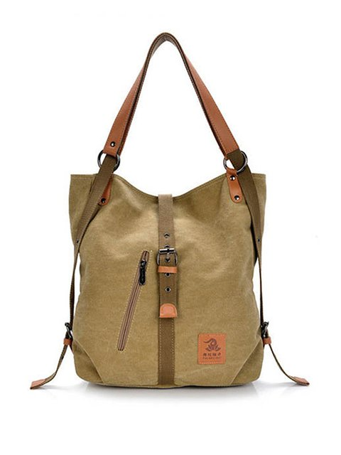 Casual Canvas Multifunctional Large Capacity Handbag Shoulder Bags Backpack