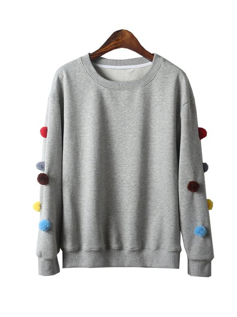 Black Crew Neck Girly Sweatshirt