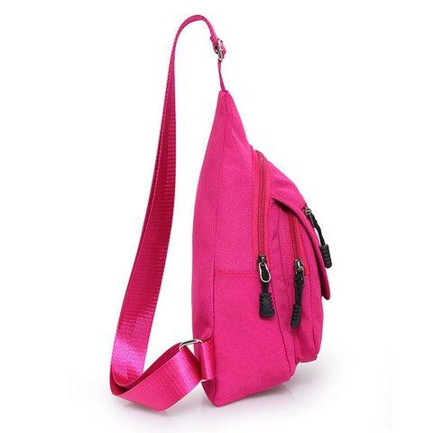 Women Nylon Lightweight Outdoor Chest Bag Sport Travel Crossbody Bags