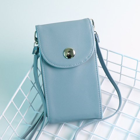 Casual PU Leather Universal Crossbody Phone Bag