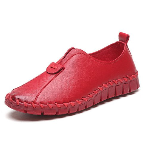Solid Slip On Soft Flat PU Casual Loafer