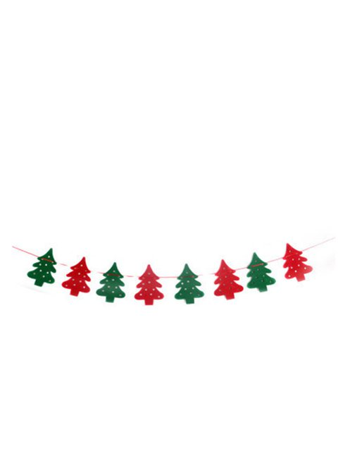 Creative Tree Shape Decoration Christmas Party Flag