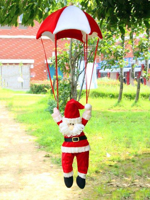 Christmas Parachute Santa Claus Snowman Patchwork Decoration