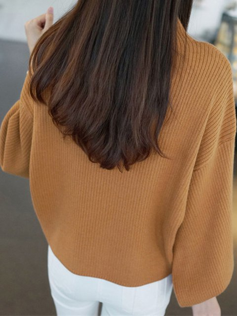High Plain Sweaters Puff Neck Sleeve Womens wFCqdnxPEF