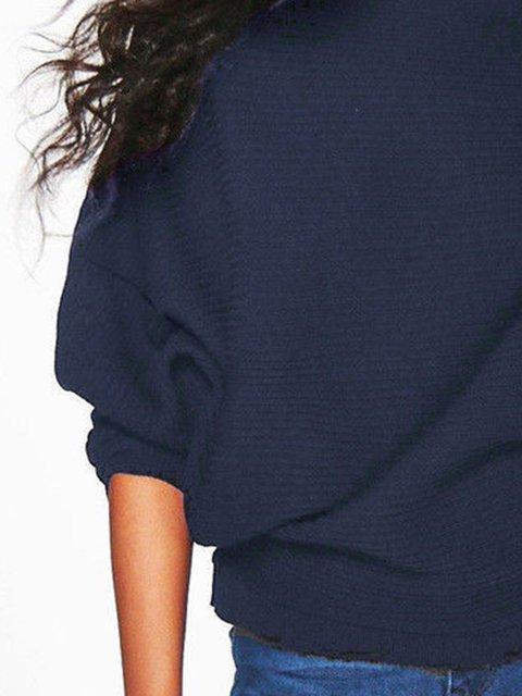 Casual Bateau Boat Neck Cotton Sweater Justfashionnow Com