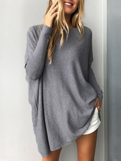 Casual Long Sleeve Crew Neck Sweatshirt