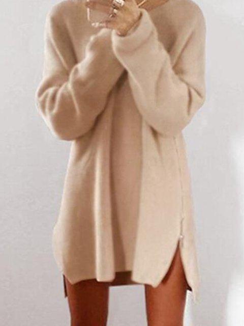 H Sleeve Zipper Casual Fluffy Sweater line Long waqx8H