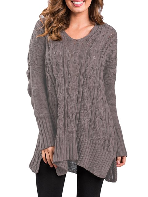 Women's New Fashion Over Size Cozy Up Knit Sweater