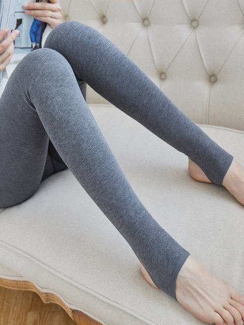 Women Cotton Blend Stretchy Step On Foot Leggings