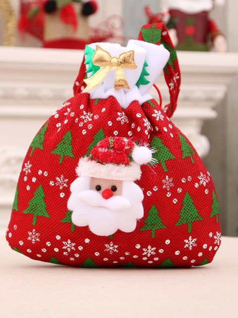 Multicolor Decoration Santa Claus Gift Christmas Candy Bag