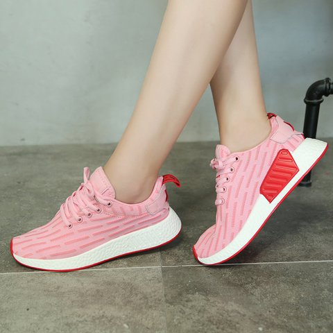 Women Breathable Lace-up Cloth Sneaker