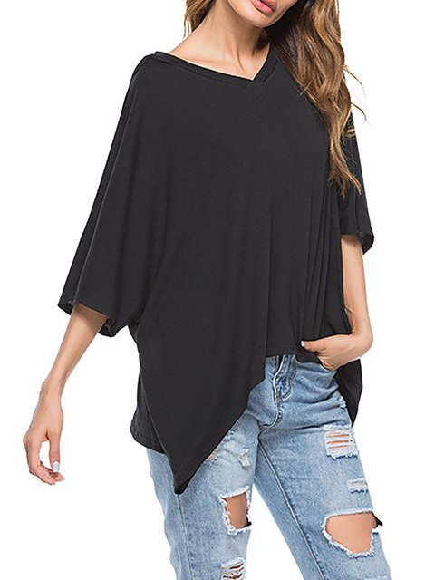 Hoodie Casual 3/4 Sleeve T-Shirt
