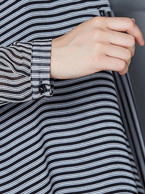 Shirt amp; Stripes Shirt Casual Sleeve Blouses Long Collar BwrnzqvB
