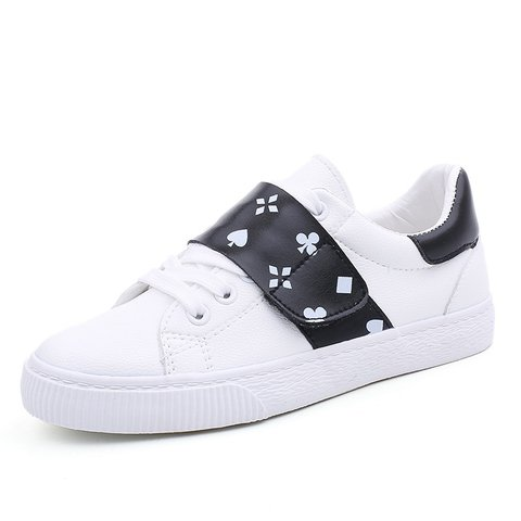 All Season Microfiber Leather Floral Print Sneakers