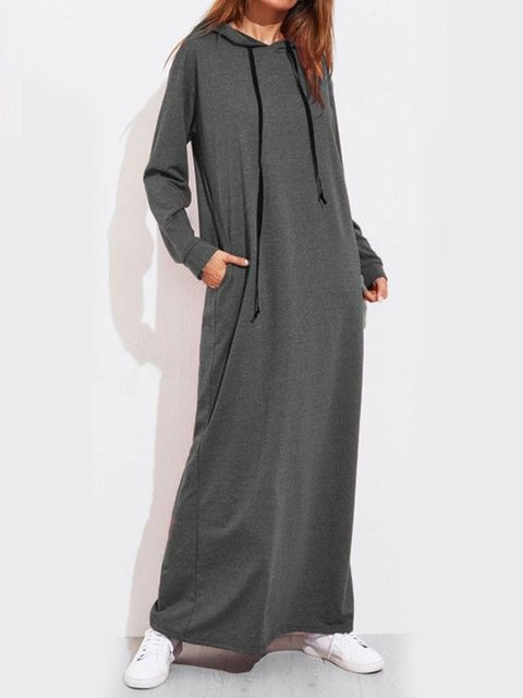 Shift Women Daytime Long Sleeve Casual Paneled Spring Dress