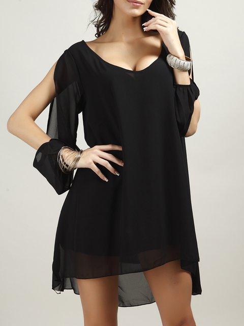 Sleeve Elegant A out Going Women Dress Summer line Long qwB1Z4BxAa