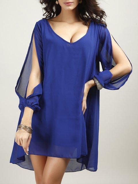A-line Women Going out Long Sleeve Elegant  Summer Dress