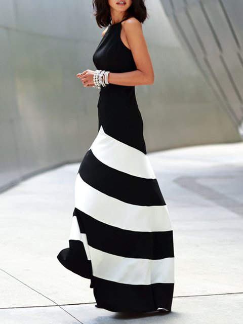 e6321f563f8 JustFashionNow Crew Neck Black-white Women Prom Dress Cocktail Dress ...