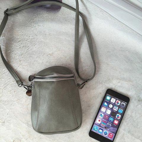 Woman Vintage Bucket Little Phone Bag PU Crossbody Bag