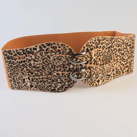 Women Leopard Print Sexy Weaving Cloth Belt