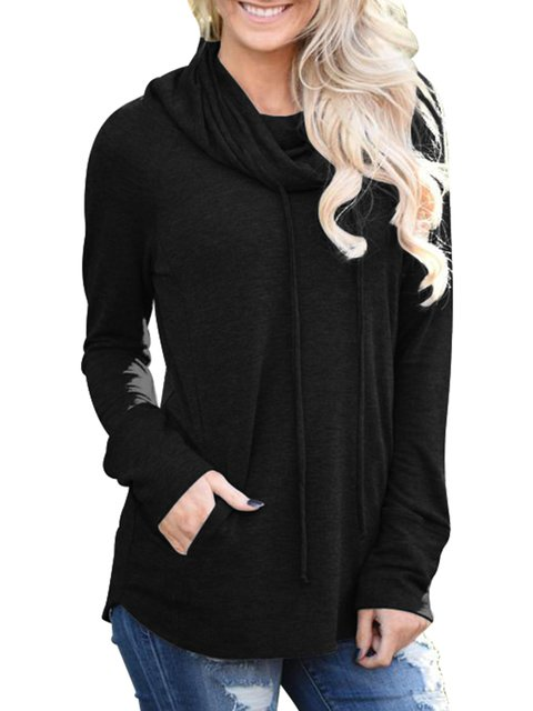 Long Sweatshirts Plain Casual Sleeve Hoody amp; pdq4qr