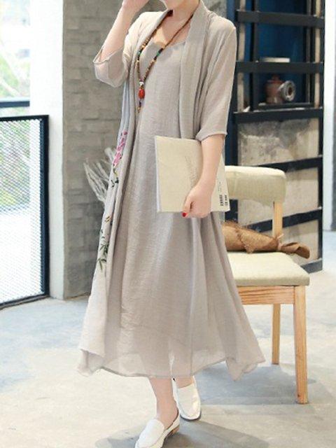 Shift Women Daily 3/4 Sleeve Printed Floral Elegant Dress