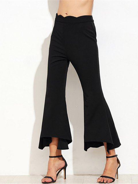 Black Casual Flared Pant