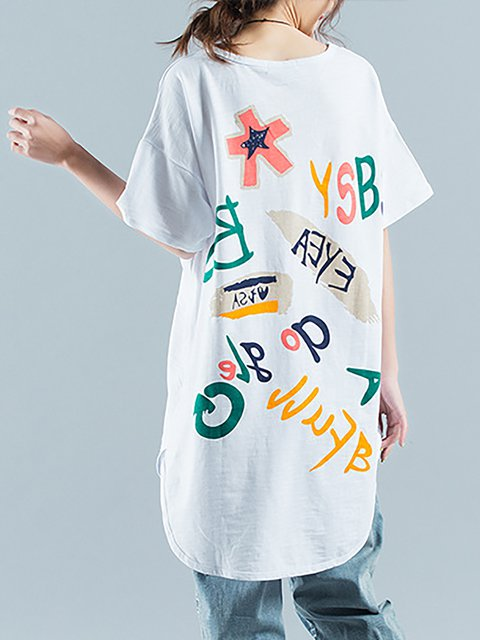 Letter Painted Painted Casual Letter Shirt Casual T ORxSqvwt7x