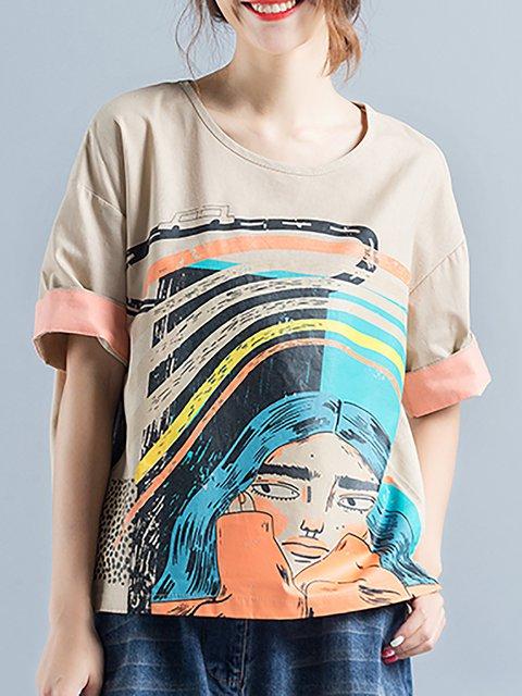Linen Painted T-Shirt