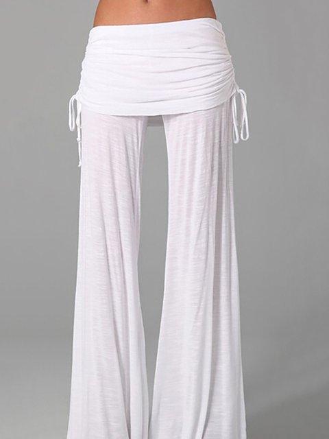 Paneled Casual Natural Pants