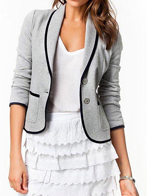 Angora-blend Shawl Collar Jacket