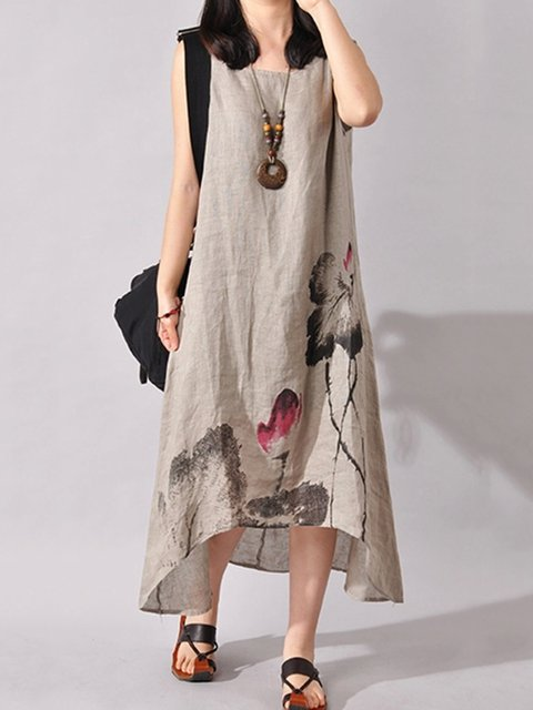 A-line Women Daily Casual Sleeveless  Casual Dress