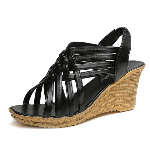 Weave Wedge Heel Casual Sandals