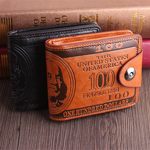 Men Vintage Embossed Horizontal Wallet Card Holder Purse