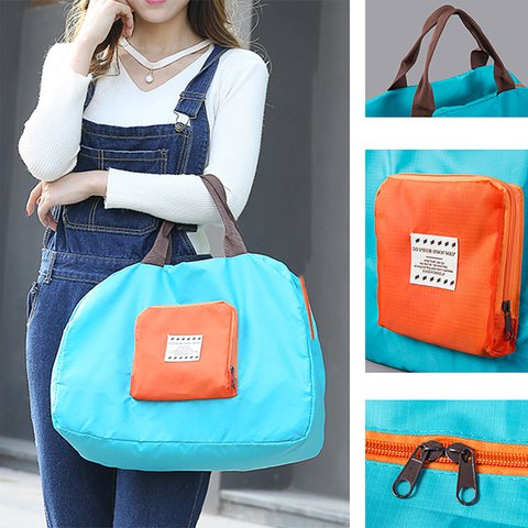 Women Versatile Folding Travel Handbag Large Capacity Bag