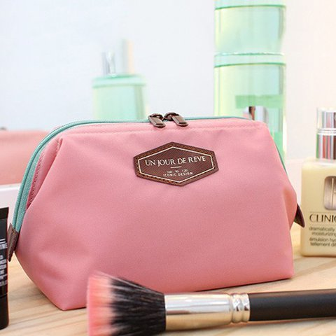 Ladies Cute Canvas Versatile Travel Cosmetic Storage Bag