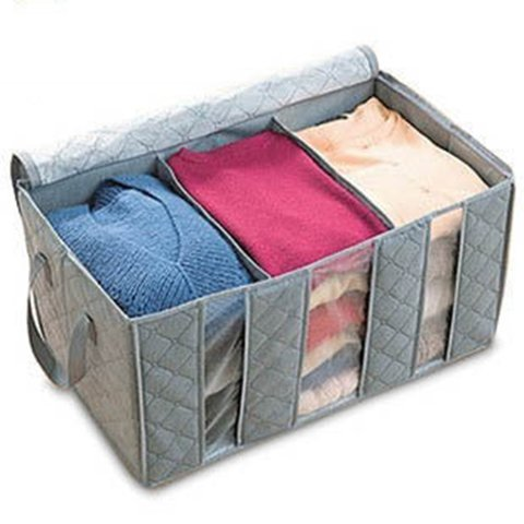 Large Capacity Bamboo Charcoal Fiber Clothes Storage Bag
