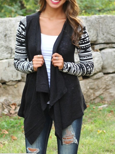 Conditioning Air Front Cardigan Asymmetrical Boho Low Open High TWCOw8XqF
