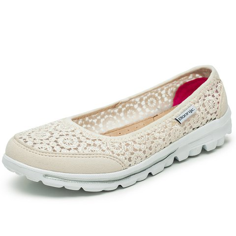 Daily Breathable Hollow-out Lace Flats