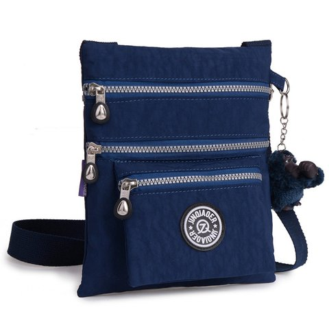 Casual Waterproof Nylon Multi Pockets Outdoor Light Crossbody Bag
