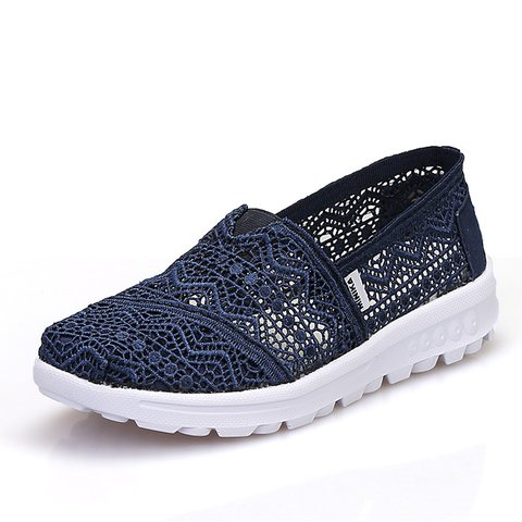 Lace Flat Heel Hollow-out Sneakers