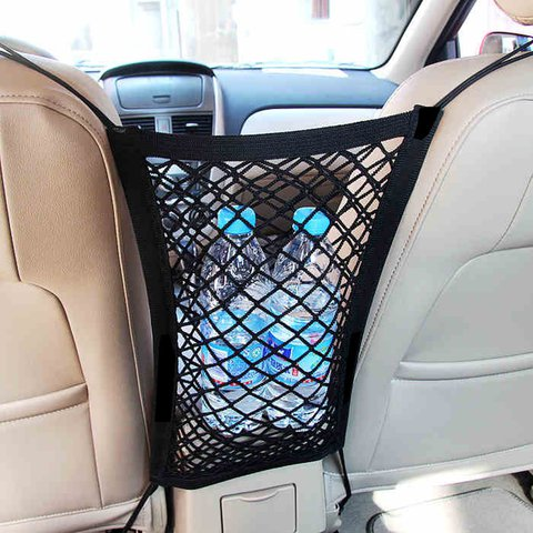 Multi-functional Mesh Car Storage Bag Hanging Carriage Bag