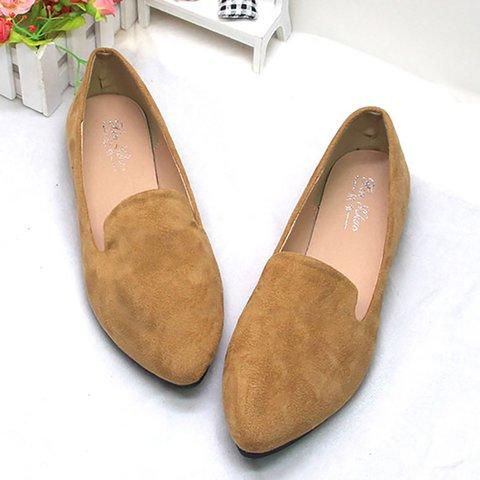 Evening Flat Heel Artificial Suede Loafers