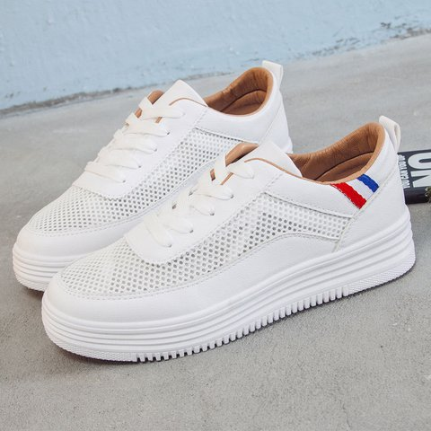All Season Lace-up Mesh Fabric Sneakers