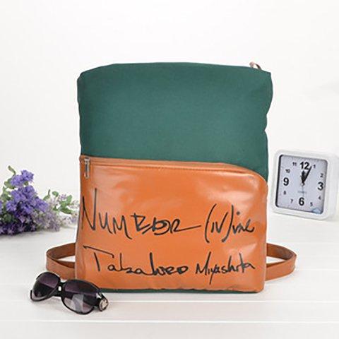 Large Capacity Canvas Zipper Casual Backpack Crossbody Bag