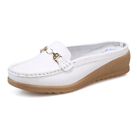 Casual Platform Spring/Fall PU Slippers