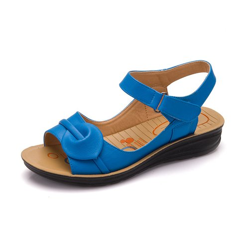 Split Leather Magic Tape Daily Sandals