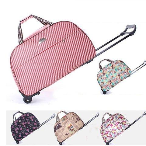 Waterproof  Travel Luggage Bag 56L Large Capacity Draw-bar Box Storage Bag