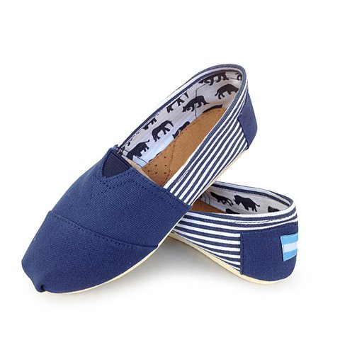 Plus Size Canvas Casual Loafers